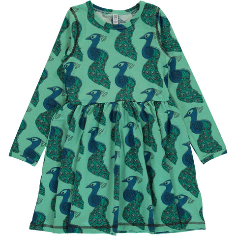 Maxomorra Peacock Spin Dress