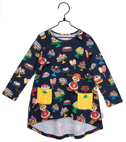 Pippi Longstocking Yummy Tunic Navy Longsleeve