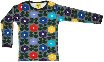 Duns Flowers Charcoal Longsleeve Top