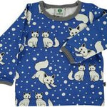 Smafolk Foxes Blue Longsleeve Top