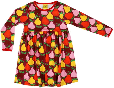 Duns red fruit longsleeve twirly dress