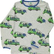 Smafolk Firetruck Grey/Green Longsleeve Top