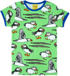 Duns green puffins shortsleeve top