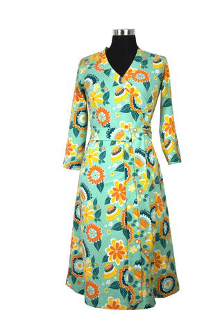 Moromini Mumbai Flower Market Dress Wrap Mummy