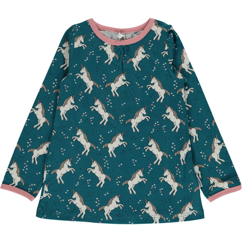 Maxomorra Unicorn A-line Longsleeve Top
