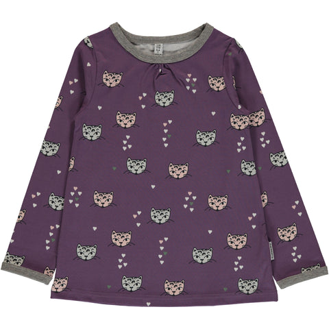 Maxomorra Kitty Cat A-Line Longsleeve Top