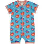 Maxomorra Bright Birds Rompersuit Shortsleeve