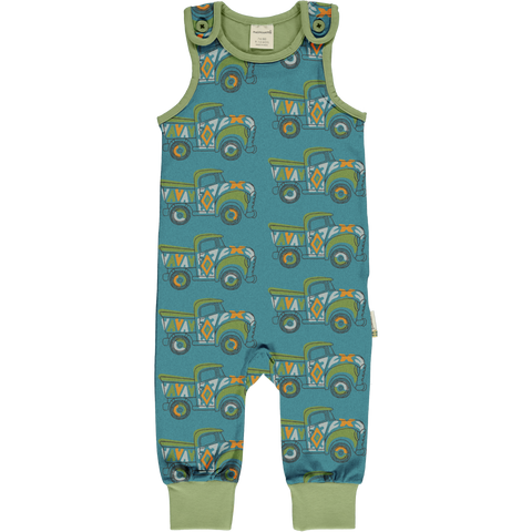 Maxomorra Painted Truck Playsuit