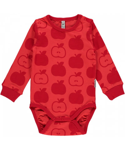 Maxomorra Apples Red Mono Body Longsleeve