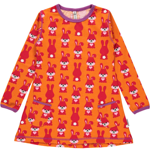 Maxomorra Rabbit Tunic Longsleeve top