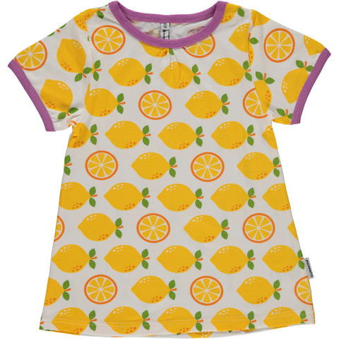 MAXOMORRA Lemon A-line shortsleeve