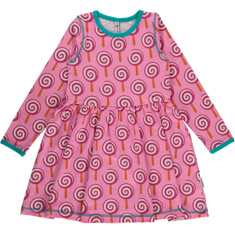 Maxomorra Lollypop Spin Dress Longsleeve