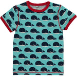 Maxomorra Whale Shortsleeve T-shirt