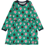 Maxomorra Mushroom Spin Dress Longsleeve Dress