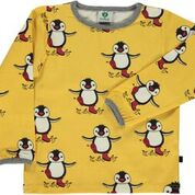 Smafolk Penguin Yellow Longsleeve Top
