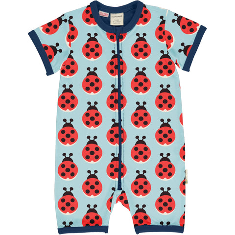 Maxomorra Lazy ladybug Rompersuit Shortsleeve
