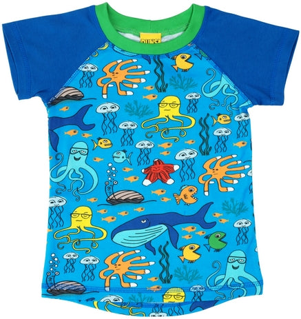 Duns Sealife blue shortsleeve raglan