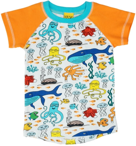 Duns sealife white shortsleeve raglan