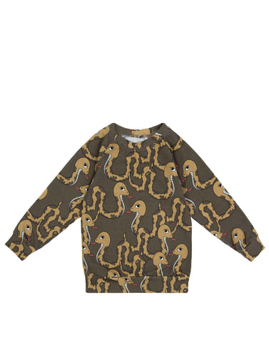 Dear Sophie Snake Brown Top Longsleeve