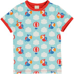 Maxomorra Parrot Safari Shortsleeve Top