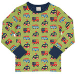 Maxomorra Colourful Cars Top Longsleeve