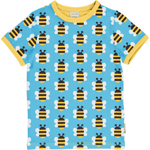Maxomorra Humble Bumblebee Top Shortsleeve