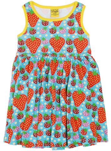 Duns Strawberry Fields Light Turquoise Dress Sleeveless Twirly