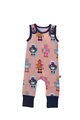 Moromini Friendly Robot Playsuit