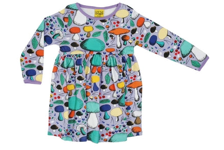 Duns Mushrooms Violet Mummy Dress Twirly Longsleeve