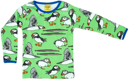 Duns Puffin Green Top Longsleeve Adult