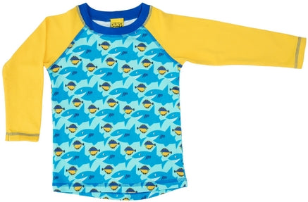 Duns Shark Yellow Raglan Longsleeve