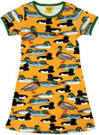 Duns Duck Yellow Mustard Mummy A-line Dress Shortsleeve