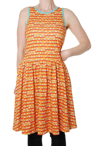 Duns Boat Orange Dress Sleeveless Mummy Twirly