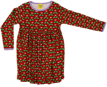 Duns Red Radish Dress Longsleeve Twirly Mummy