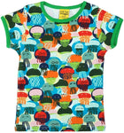 Duns Jellyfish Green Blue Top Shortsleeve