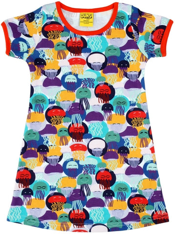 Duns Jellyfish Purple/Teal Dress Aline Mummy Shortsleeve