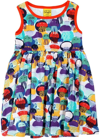 Duns Jellyfish Purple/Teal Dress Sleeveless Twirly