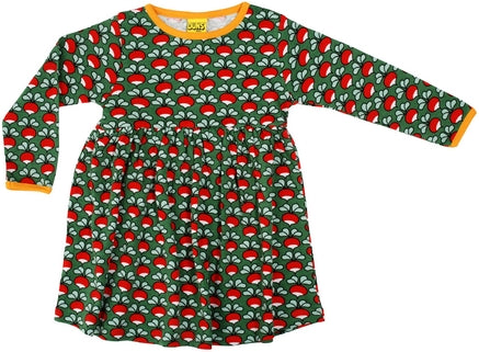 Duns Radish Dark Green Twirly Dress