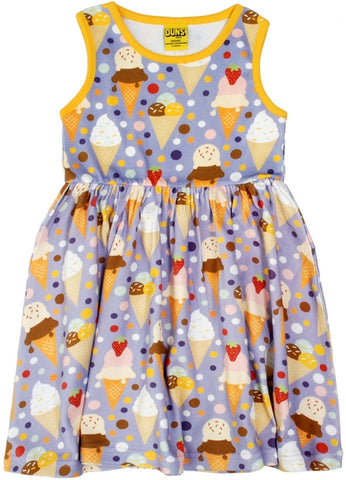 Duns ice cream Lavender Mummy Sleeveless Dress Twirly
