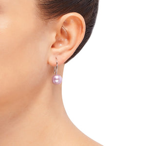 10-11 mm Lilac Pearl Drop Earrings