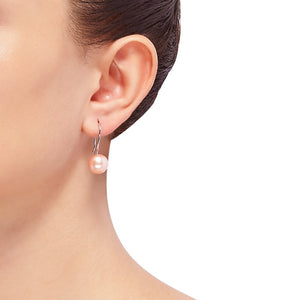 10-11 mm Rose Pearl Drop Earrings