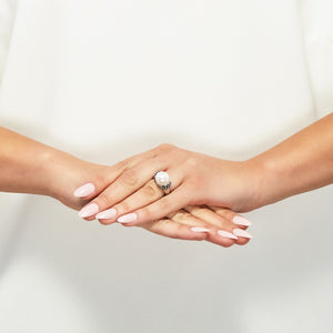 11.5-12 mm White Pearl Pallini Ring