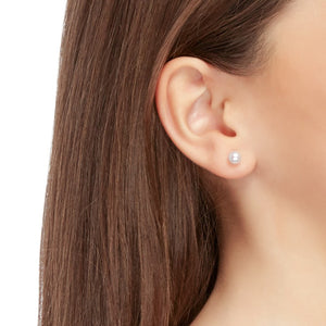 5.5-6 mm White Pearl Stud Earrings