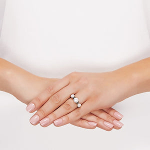 5.5-7.5 mm Triple Pearl Golden Pallini Ring