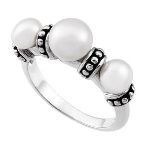 5.5-7.5 mm Triple Pearl Pallini Ring