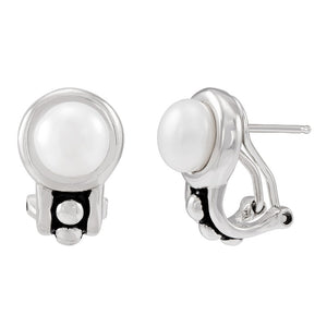 7.5-8 mm White Pearl Pallini Earrings
