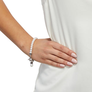 7.5-8 mm White Pearl Pallini Toggle Bracelet