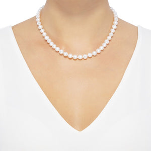 7-8 mm Pearl Strand Necklace, 16