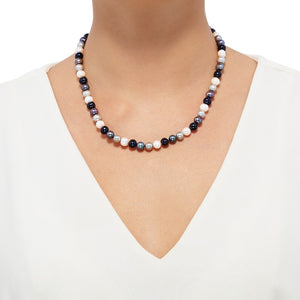 7-8 mm Tuxedo Potato Pearl Strand Necklace