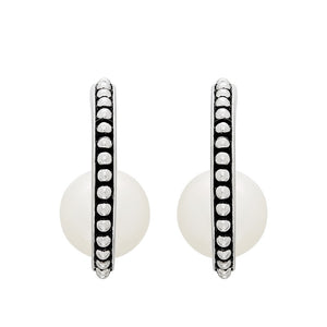 8.5-9 mm Cultured Pearl J-Hoop Earrings